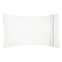 Julie Dodsworth - Blue cotton percale 'Sunday Best' Standard pillow case