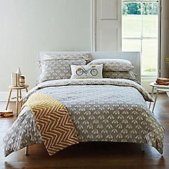 Scion - Light grey cotton 'Snow Drop' duvet cover