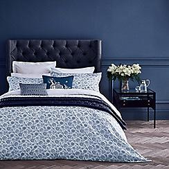 Fable - Dark blue cotton percale 220 thread count 'Sofifi' duvet cover
