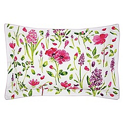 Sanderson - Multi-coloured 200 thread count cotton percale 'Spring Flowers' Oxford pillow case