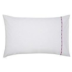Sanderson - White cotton 200 thread count 'Spring Flowers' Standard pillow case