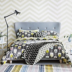 Scion - Grey cotton percale 'Sula' duvet cover