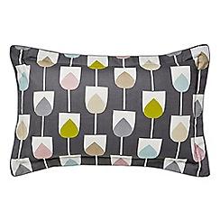 Scion - Grey cotton percale 'Sula' Oxford pillow case