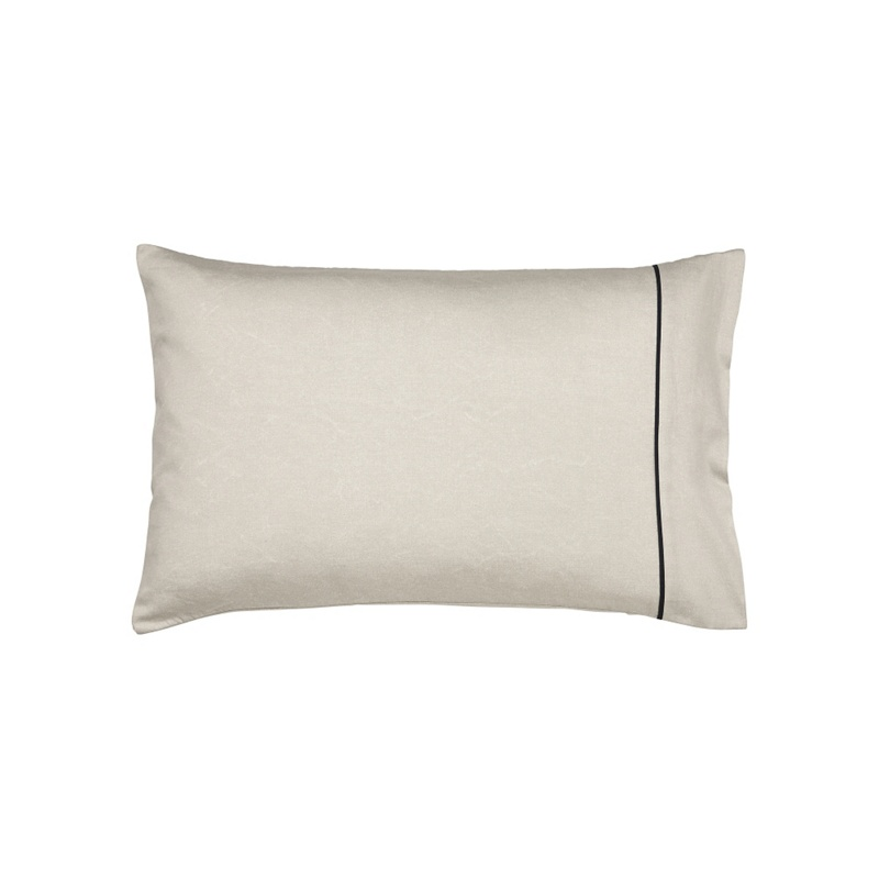 Harlequin Blue cotton sateen 200 thread count 'Sumi' standard pillow case