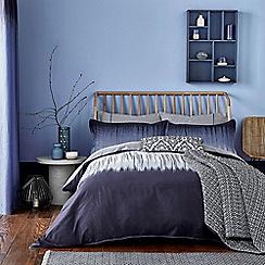 Bedeck 1951 - Dark blue cotton sateen 180 thread count 'Taj' duvet cover