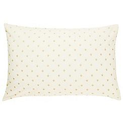 Sanderson - Soft Gold 'Thisbe' standard pillowcases