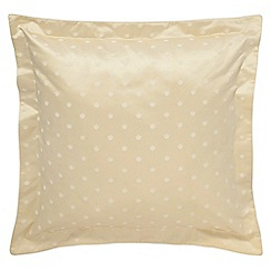 Sanderson - Soft Gold 'Thisbe' square oxford pillowcases