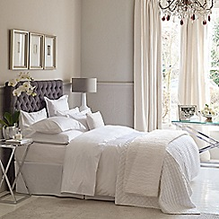 Fable - White cotton 350 thread count 'Vauville' valance sheet