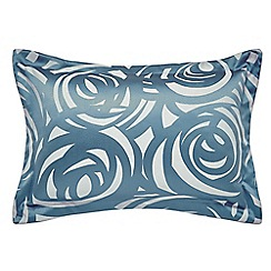 Harlequin - Blue viscose and polyester 249 thread count 'Vortex' Oxford pillow case