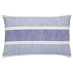 Sanderson - Blue 200 thread count striped 'Willow Tree' pillow case pair
