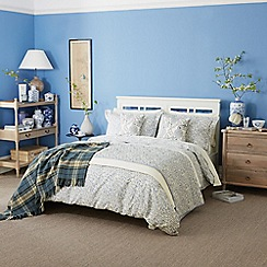 Morris & Co - Light blue 300 thread count floral 'Willow Bough' duvet cover