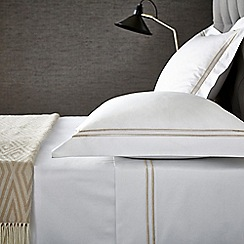 Hotel - Natural cotton sateen 'Linley' flat sheet