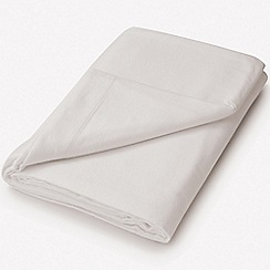 Hotel - Silver brushed cotton plain dye 'Verbier' flat sheet