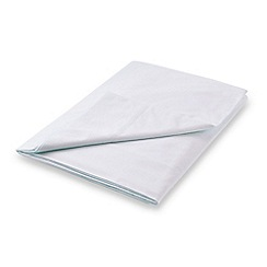 Hotel - Silver combed cotton percale 300 thread count 'Samsara' flat sheet