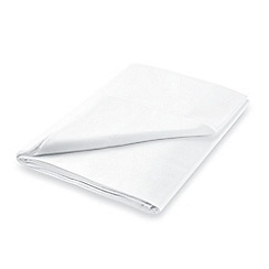 Hotel - White combed cotton sateen 600 thread count 'Maya' flat sheet