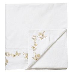Sanderson - White 'Pyramus' flat sheet