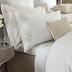 Fable - Beige cotton percale 300 thread count 'Amirah' fitted sheet