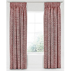 Bedeck 1951 - Red cotton 'Akello' lined curtains