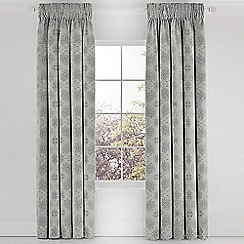 Bedeck 1951 - Grey cotton 'Altana' lined curtains