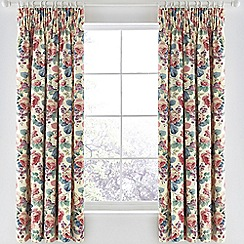 Sanderson - Multicoloured cotton panama 'Chelsea' lined curtains