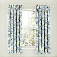 Sanderson - Blue 'Cottage Garden' curtains