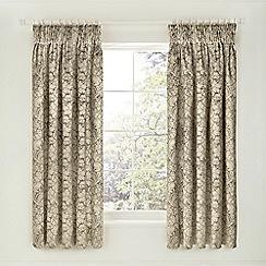 Sanderson - Light brown cotton rich 'Eleanor' curtains