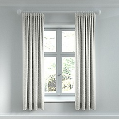 Helena Springfield - Light grey cotton sateen 'Etta' lined curtains