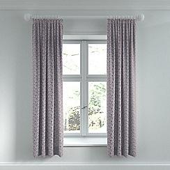 Helena Springfield - Purple cotton sateen 'Etta' lined curtains