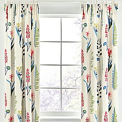 Sanderson - Multicoloured cotton sateen 'Floral Bazaar' lined curtains