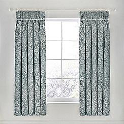 Sanderson - Light blue cotton 'Floriella' lined curtains