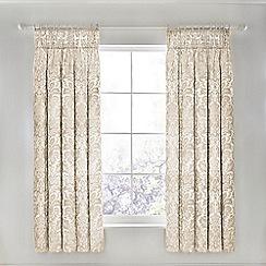 Sanderson - Ivory cotton 'Floriella' lined curtains