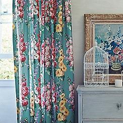 Sanderson - Multicoloured 'Hollyhocks' curtains
