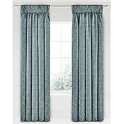 Bedeck 1951 - Light blue polyester and cotton 'Inca' lined curtains