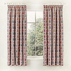 V & A - purple 'Kashmir' curtains