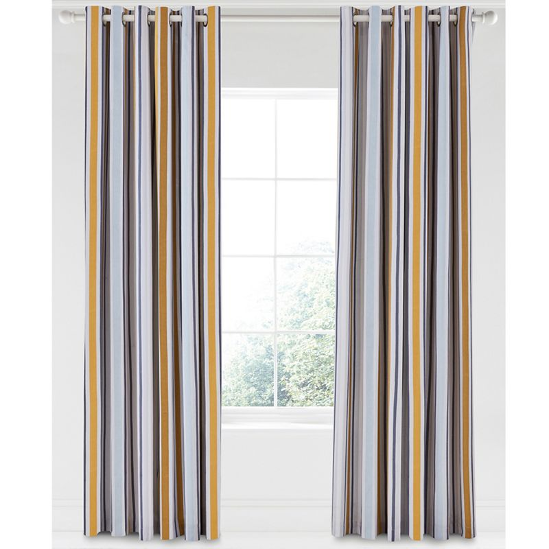 Scion Multicoloured cotton panama Lintu lined curtains