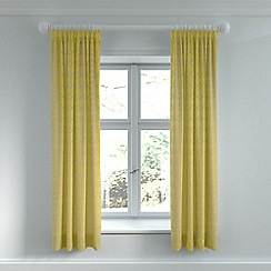 Helena Springfield - Yellow polyester and viscose 'Lula' lined curtains