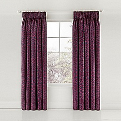 Bedeck 1951 - Multicoloured cotton sateen 200 thread count 'Maloja' lined curtains