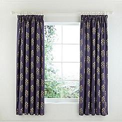 V & A - Multicoloured cotton sateen 'Nina' lined curtains