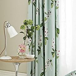 Sanderson - Aqua 'Oleander' curtains