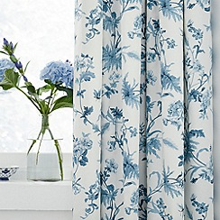 Sanderson - Blue 'Primrose Hill' curtains