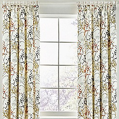 Sanderson - Multicoloured cotton sateen 'Pippin' lined curtains