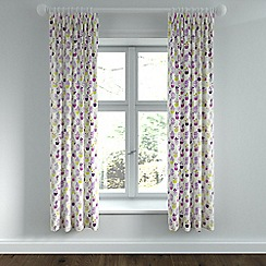 Helena Springfield - Purple polycotton 'Polly' linen curtains