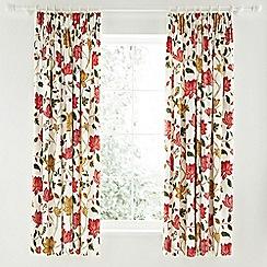 Sanderson - Red 'Pondicherry' curtains