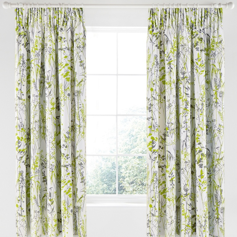 Vintage Printed Curtains Floral Country Cottage Curtains