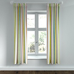 Helena Springfield - Light green polycotton 'Roxy' lined curtains