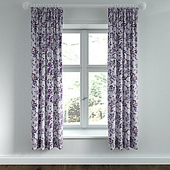 Helena Springfield - Purple polycotton 'Sally' lined curtains
