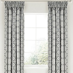 Bedeck 1951 - Grey polycotton 'Soto' lined curtains