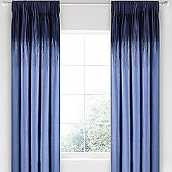 Bedeck 1951 - Dark blue cotton sateen 'Taj' lined curtains
