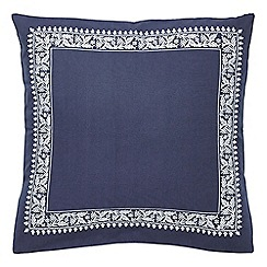 Echo - Dark blue patterned 'Jakarta' pillow sham