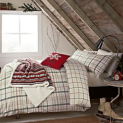 Peacock Blue Loft Collection - Multicoloured 'Barton Check' bed linen set